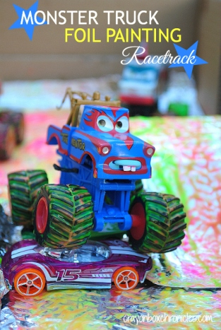 Monster Truck Foil Painting by Crayon Box Chronicles