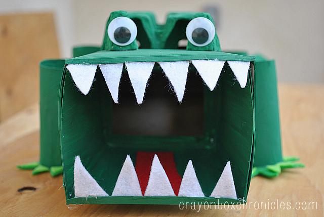 alligator affirmation box � showing kids love crayon box