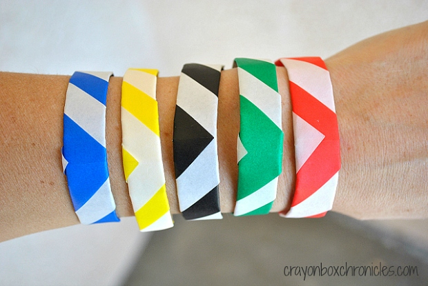 DIY Olympic Origami Bracelets by Crayon Box Chronicles