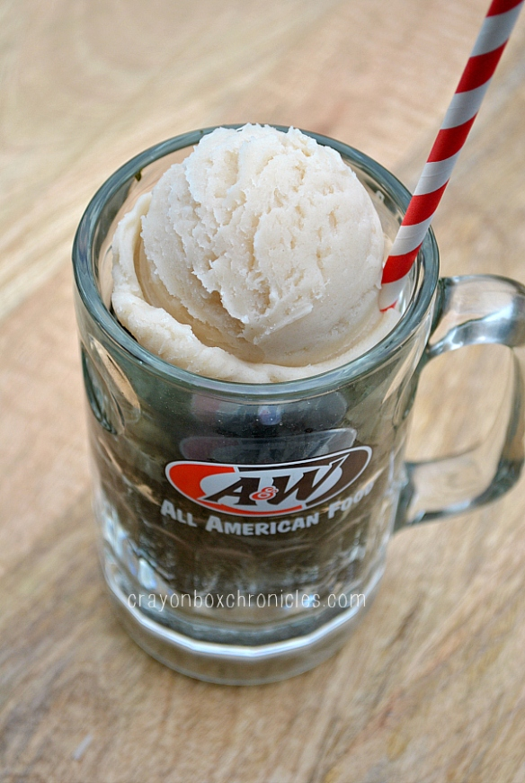 A&W mug root beer float play dough play