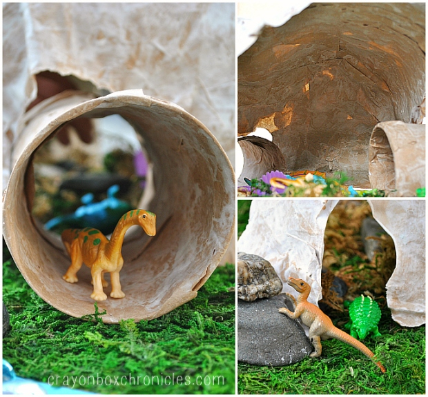 dinosaur play cave and tunnel