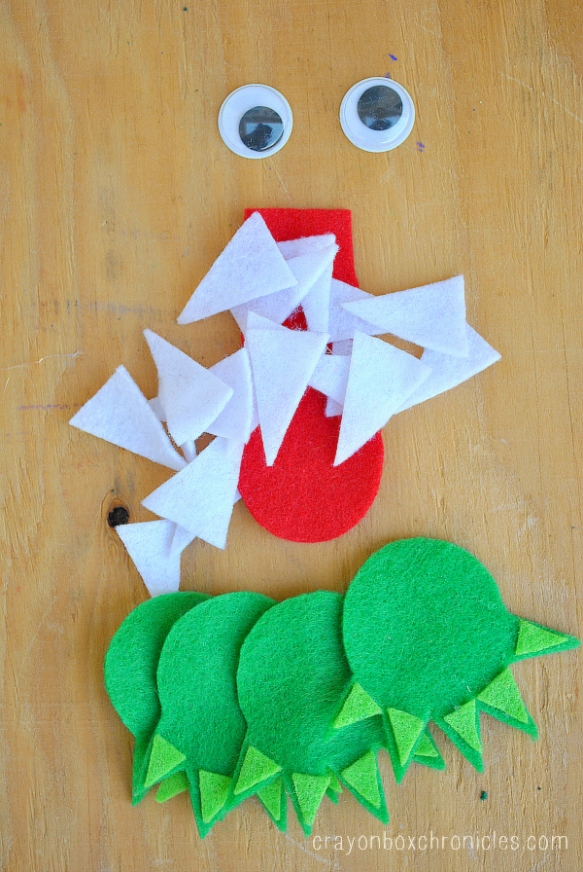 felt pieces for alligator box