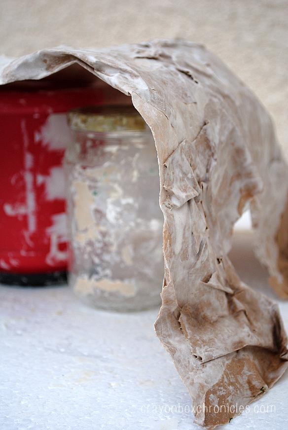 making paper mache cave