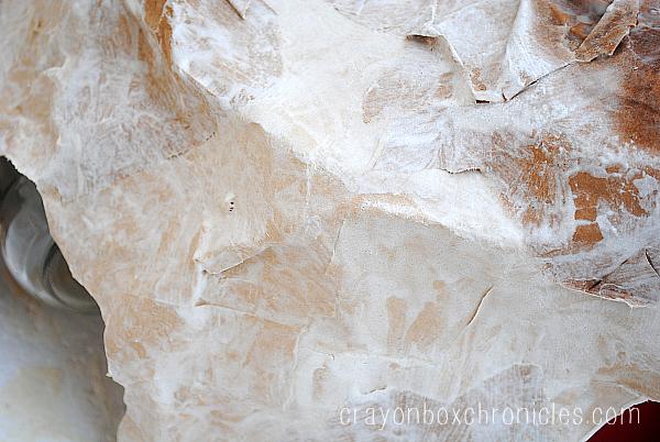 paper mache dinosaur cave