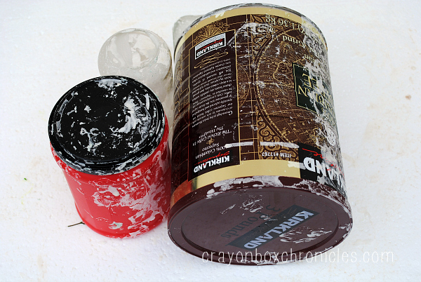 recycled cans for paper mache cast