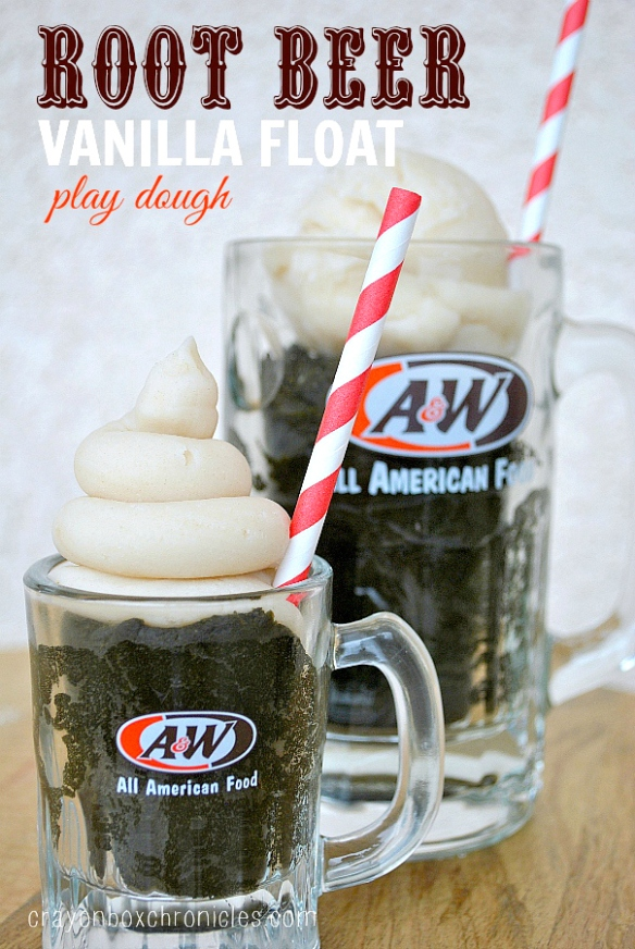 Root Beer Float Scented Play Dough in A&W Mugs