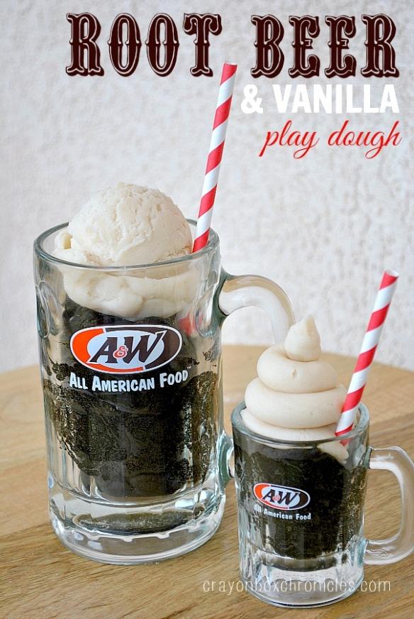 Root Beer Vanilla Float Scented Play Dough