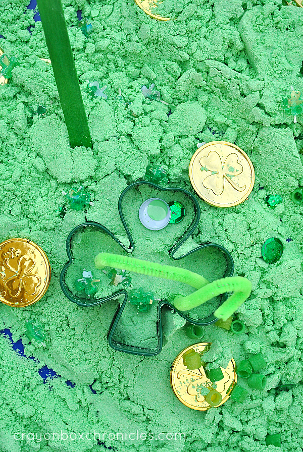 shamrock foam dough play