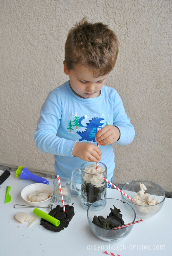 stirring root beer play dough