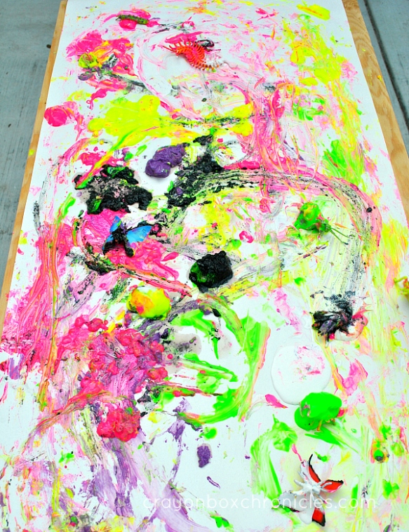 process based painting activity for kids