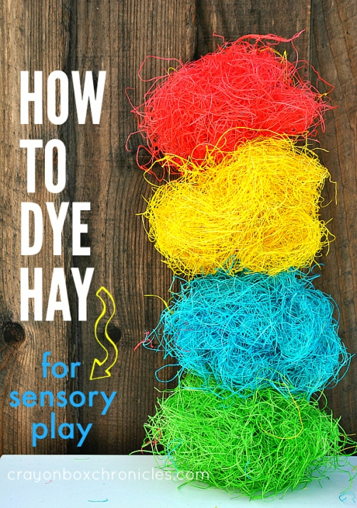 how to dye hay tutorial