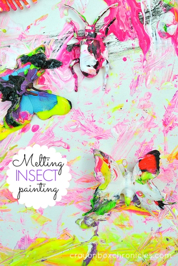 Melting Insect Sensory Painting by Crayon Box Chronicles