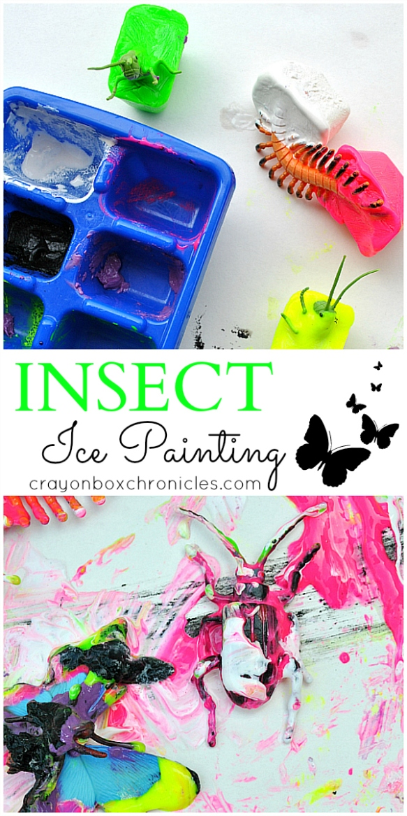 Insect Ice Sensory Painting by Crayon Box Chronicles