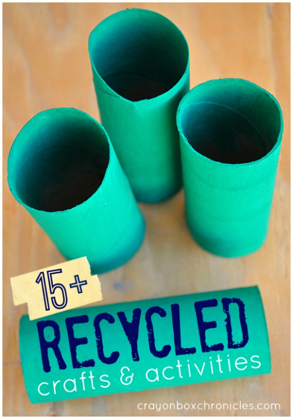 15+ recycled crafts and activities for kids