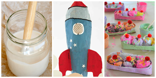 Easy Paper Mache Crafts and Glue Recipe for Kids