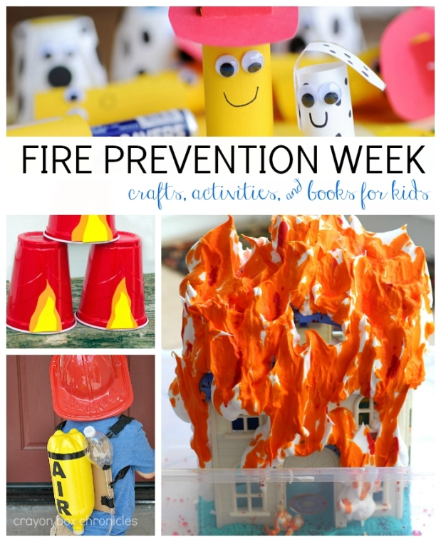 Fire Prevention Week Activities, Crafts, and Books for Kids