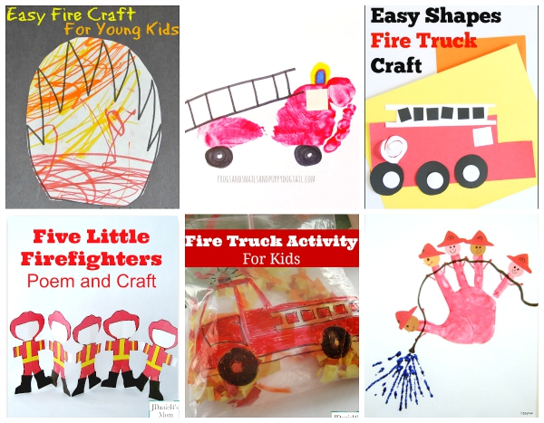 Fire Truck Crafts for Fire Prevention Week