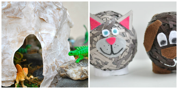 Paper Mache Crafts and Glue Recipe for Kids