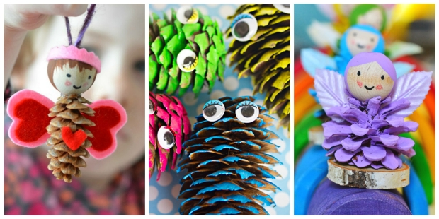 Easy pine cone crafts for kids