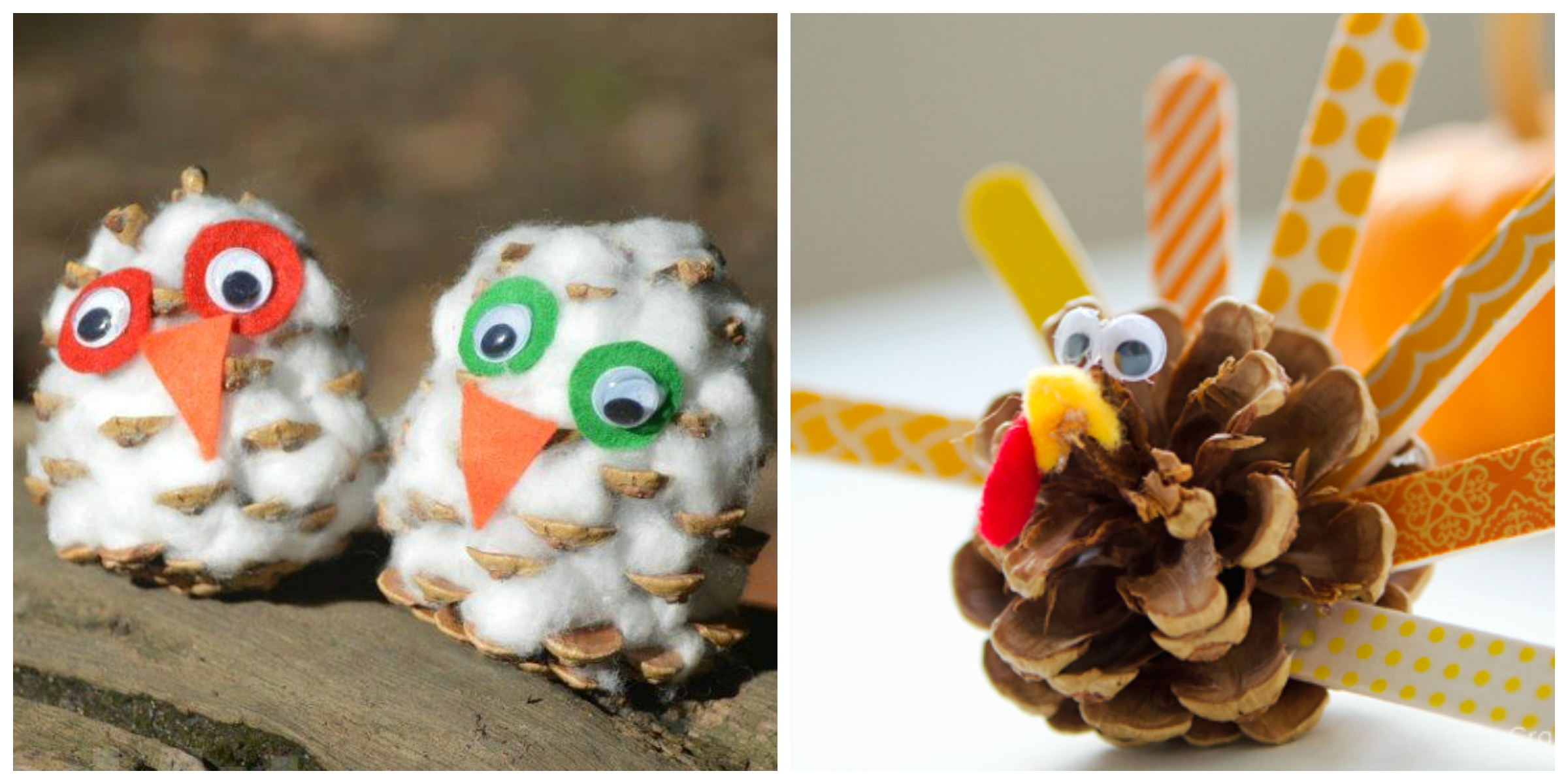 Pine cone crafts for kids crayon box chronicles for Pine cone art projects