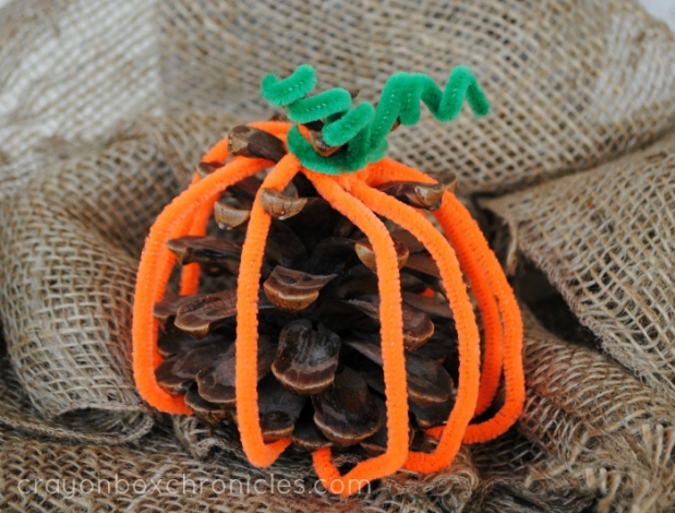 Pumpkin Pine Cone Craft for Kids