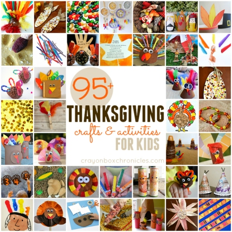 95+ Easy Thanksgiving Crafts and Activities for Kids