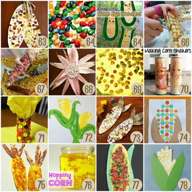 Easy Corn Activities for Thanksgiving for Kids