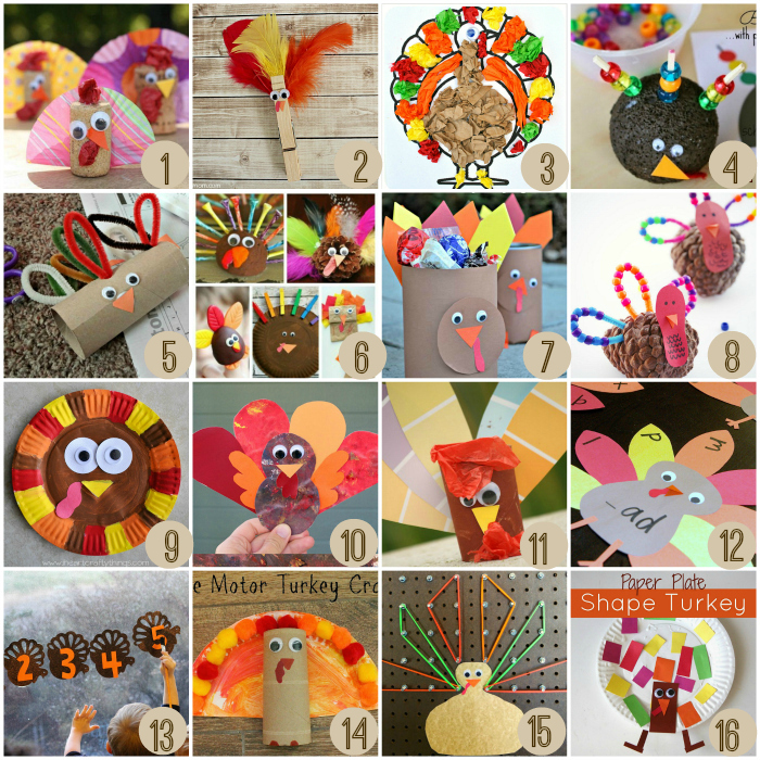 Thanksgiving crafts for kids crayon box chronicles for Thanksgiving turkey arts and crafts