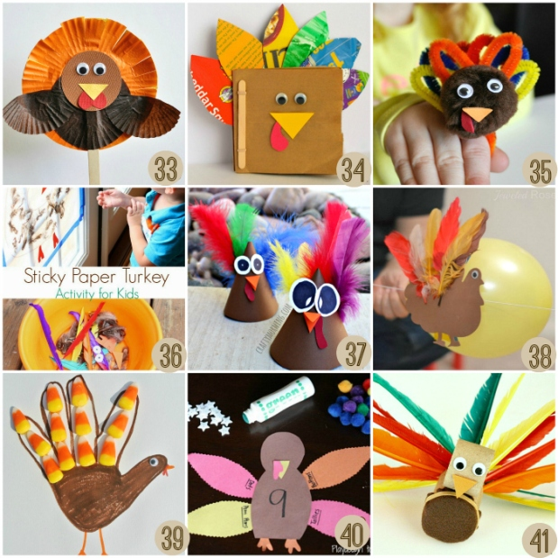 Fun Turkey Crafts for Thanksgiving