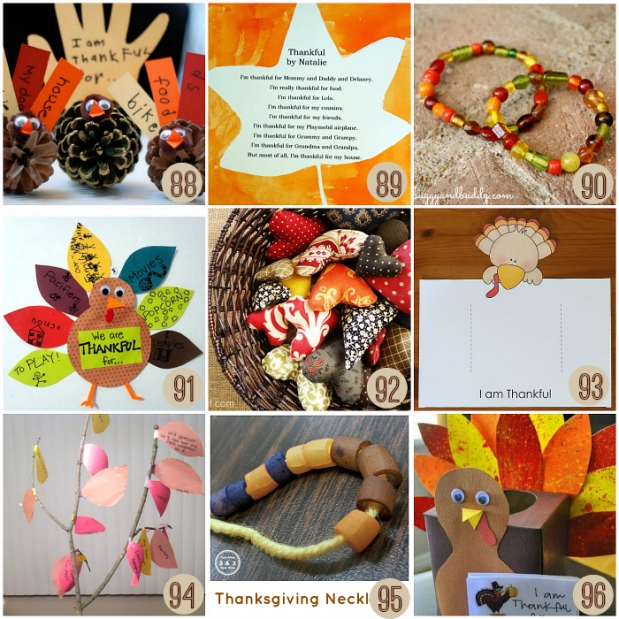 Gratitude Activites and Kid-Made Gifts for Thanksgiving