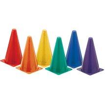 kids play cones