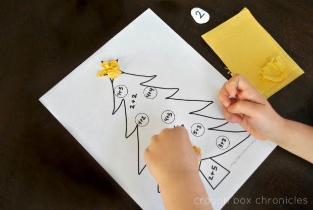Christmas Math Activity for Kindergartners