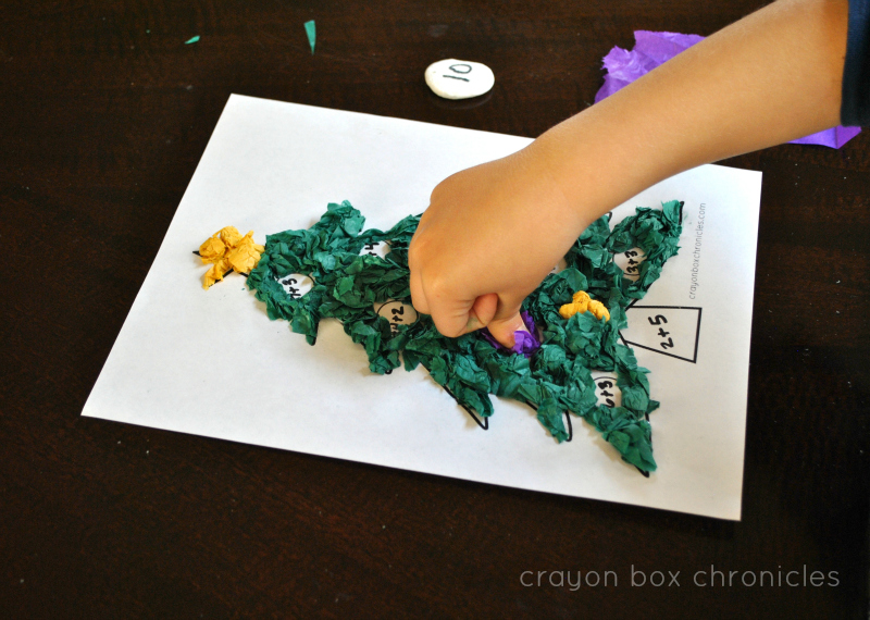 Christmas Tree Tissue Paper Craft Crayon Box Chronicles