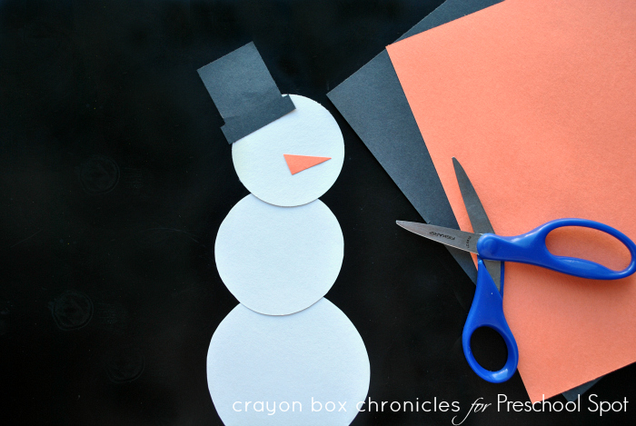 Snowman preschool craft