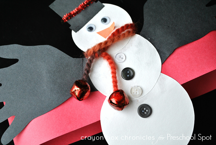 Snowman Handprint Hat for Kids