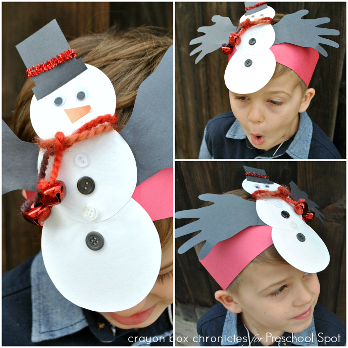 Snowman Handprint Headband for Kids